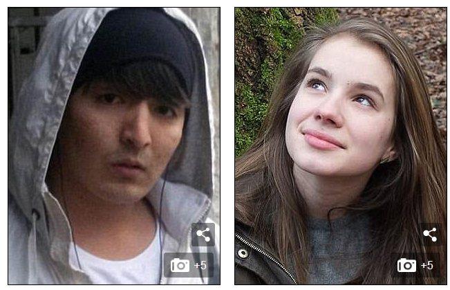 22歲的阿富汗難民侯賽因‧哈瓦里(左圖)在2016年10月涉嫌強暴和謀殺19歲的...