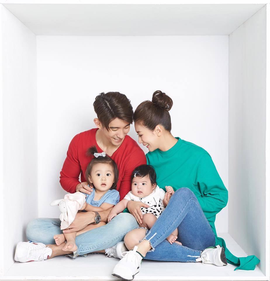 修杰楷(左)、賈靜雯一家子的生活點滴,受到許多網友關注。圖/摘自臉書