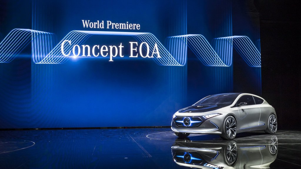 德國豪華品牌M.Benz不斷釋出EQ系列的相關車型,宣示其電動車上的研發成果。 圖片來源:M.Benz