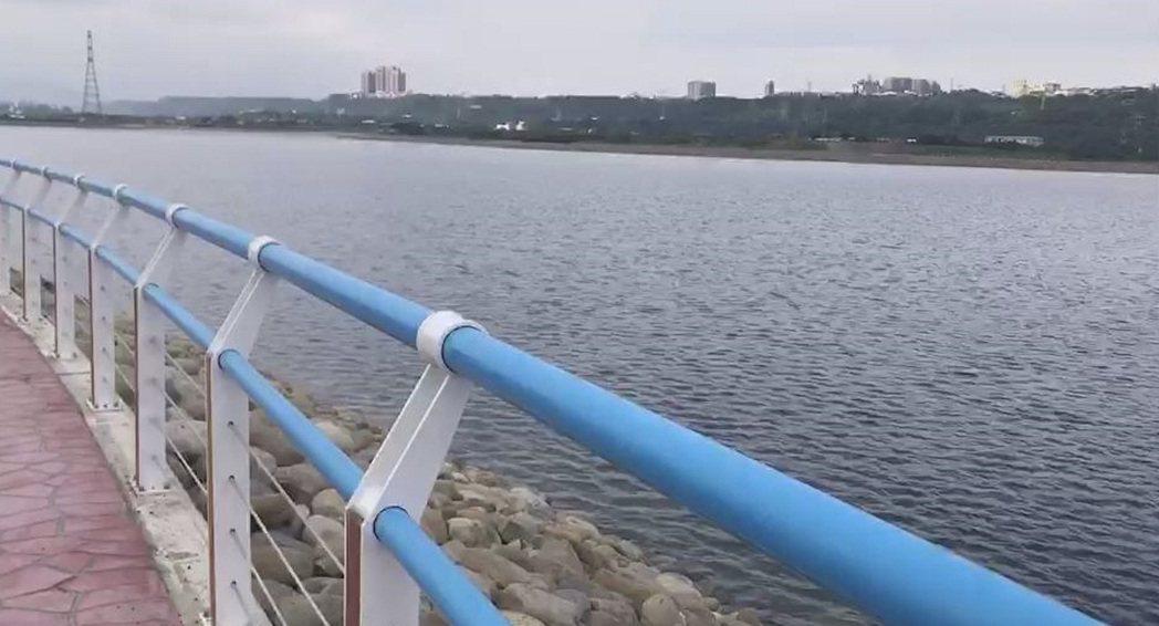 中庄調整池已蓄滿水待命支援板新水廠。圖/北區水資源局提供