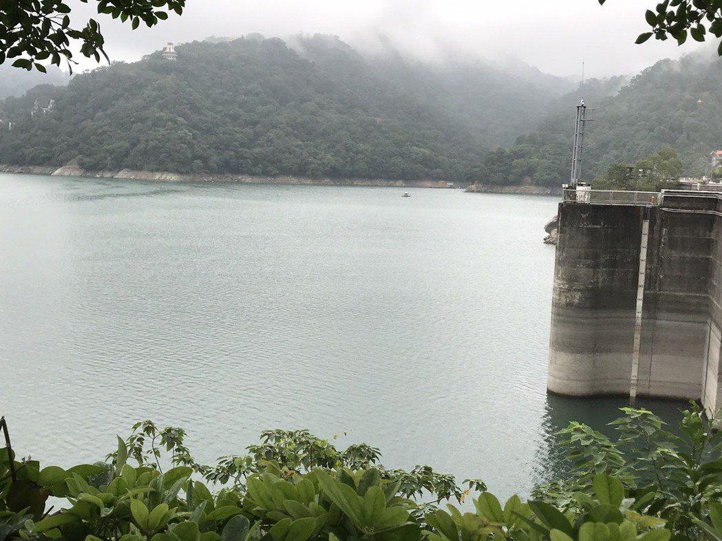 泰利颱風轉向,石門水庫今天至中午降雨量只有4毫米。圖/北區水資源局提供