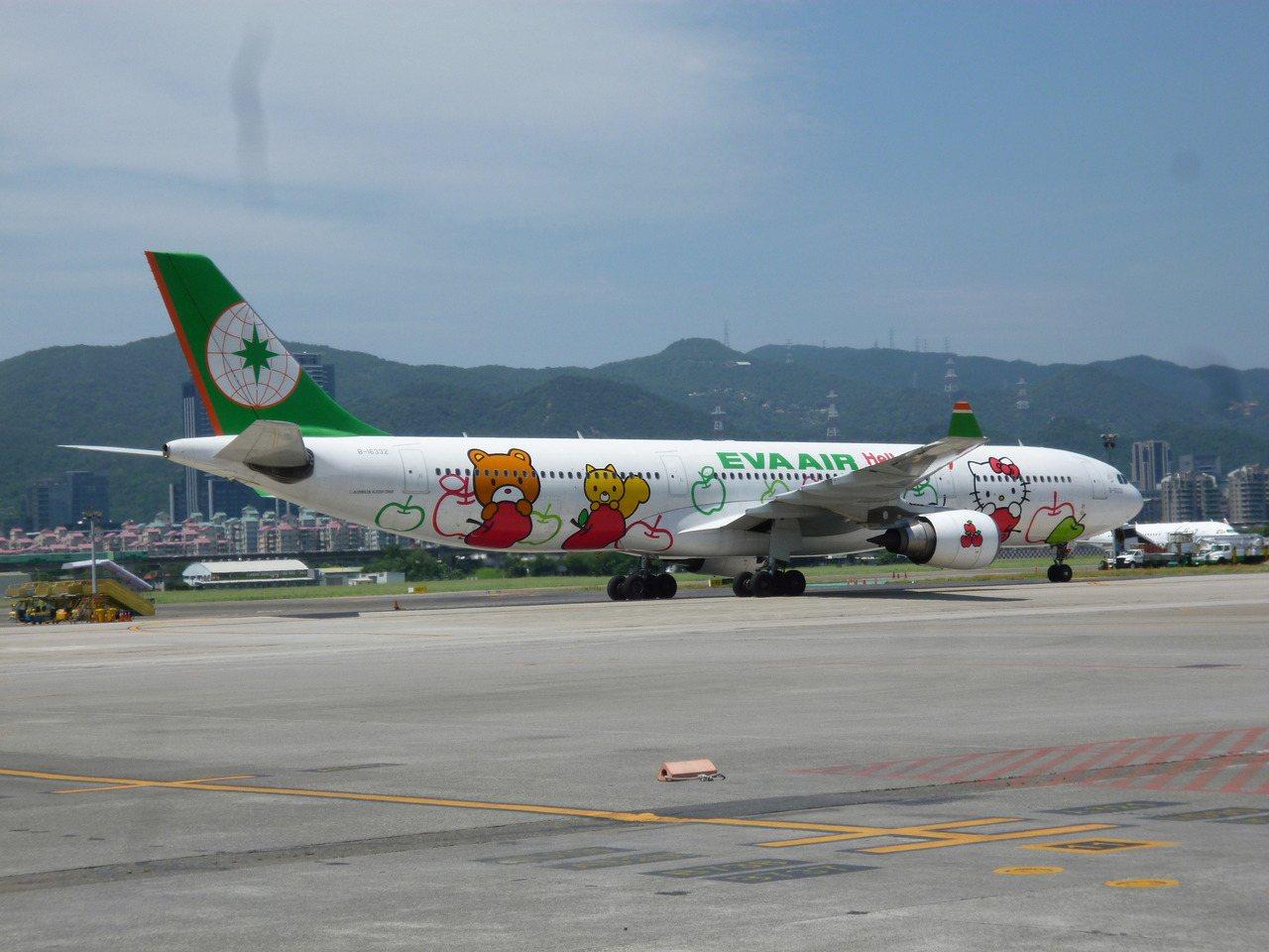 受泰利颱風影響,長榮航空14日多條國際航線停飛。記者楊文琪/攝影
