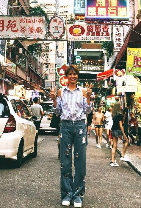 曾沛慈到香港宣傳,忙著找美食。圖/福茂提供