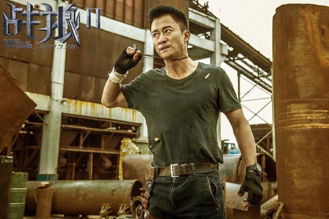吳京自導自演「戰狼2」打破中國票房最高紀錄。圖/摘自微博