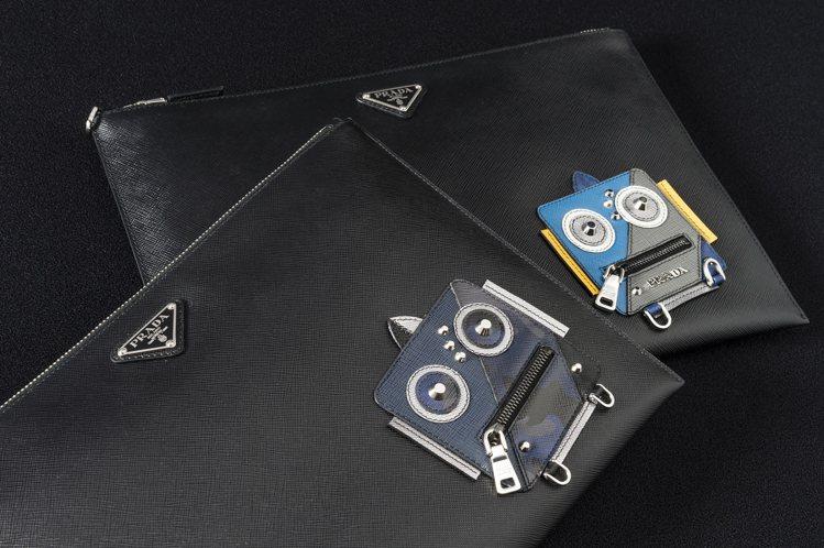 PRADA機器人手拿包各11,500元。圖/PRADA提供