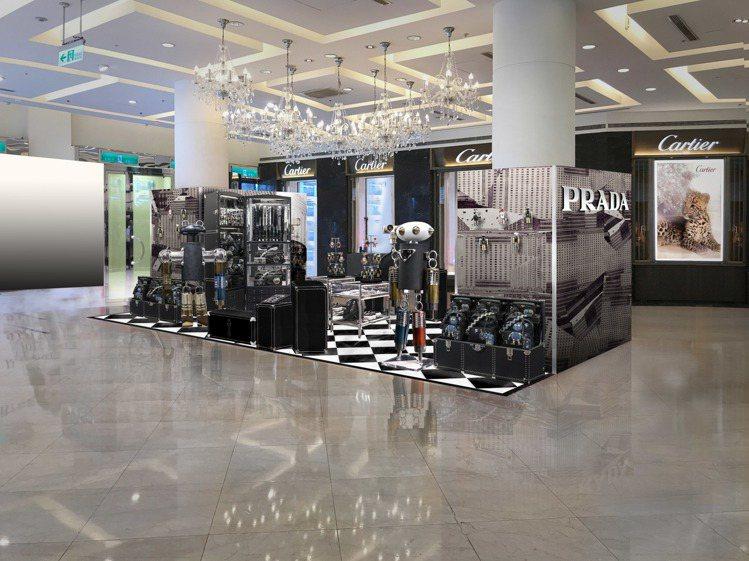 PRADA機器人即時快閃店9/14~10/11在微風廣場登場。圖/PRADA提供