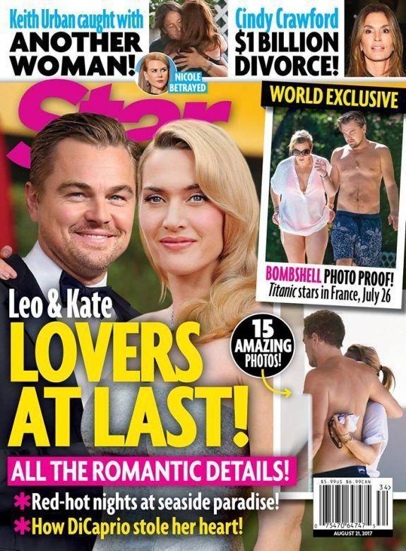 凱特溫絲蕾與李奧納多8月被拍到在海灘共度周末。圖/摘自STAR雜誌官網