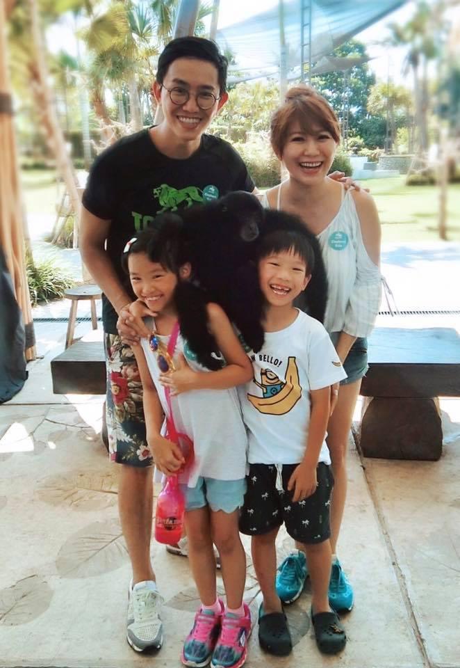 佩甄與老公祚祚婚後育有一對可愛兒女。圖/摘自臉書