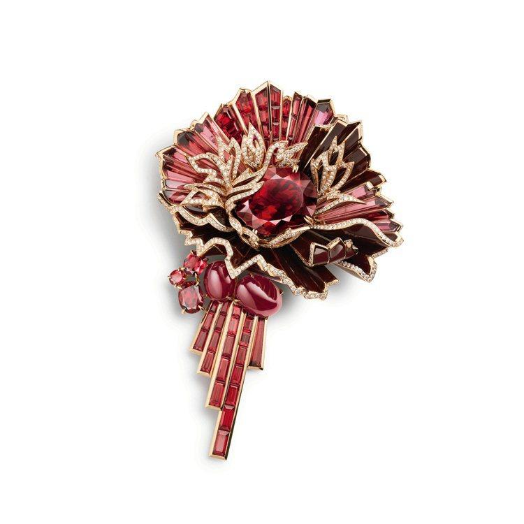 Aria Passionata熱情詠嘆調玫瑰金胸針,售價1,456萬元 。圖/C...