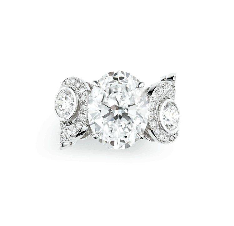 Valses dhiver冬季華爾滋白K金戒指,2,933萬5,000元 。圖/...