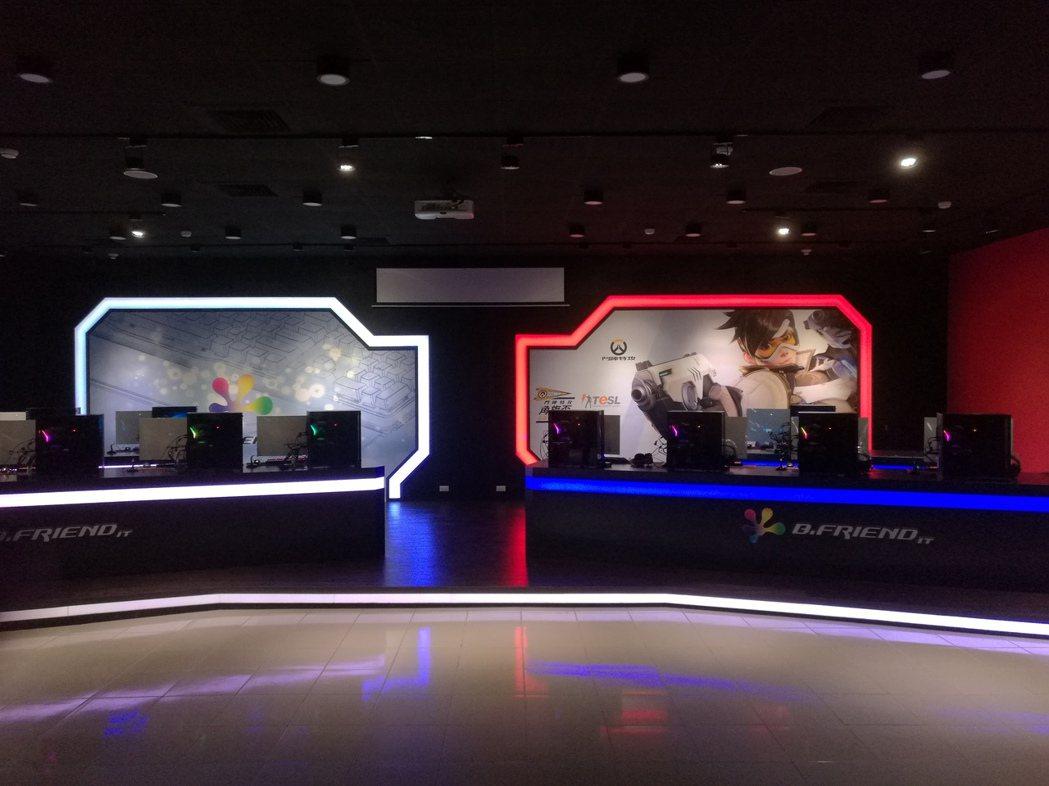 萬能科大斥資千萬元打造專業電競館今年6月啟用。 記者鄭國樑/攝影