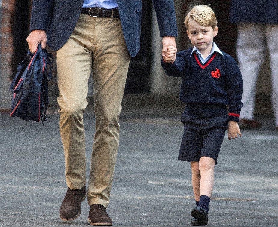 喬治小王子本月7日上學去。 路透社資料照片