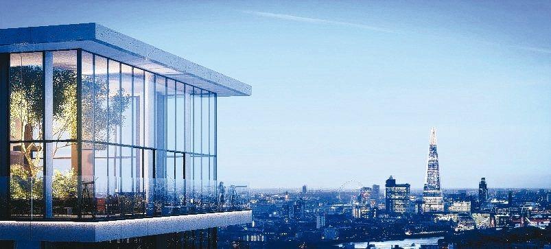 倫敦Wardian蕨醒新建案能夠一覽金絲雀碼頭景觀,泰晤士河及大倫敦景色,一推出...