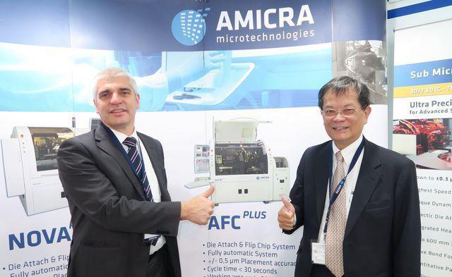 興昇科技總經理牟利凡(右)、德國AMICRA董事總經理Mr. Rudolf Ka...