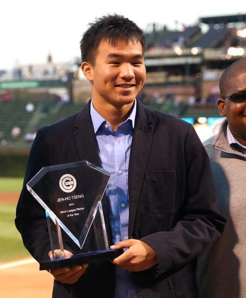 曾仁和獲小聯盟最佳投手獎。 截自Zesty MLB News推特