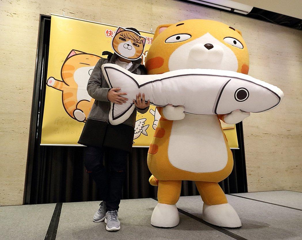 2017年台灣LINE原創貼圖銷售第一名的「白爛貓」(圖),要從虛擬世界走入真實...