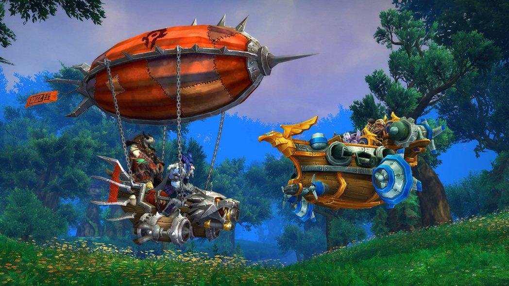 BlizzCon 2017《魔獸世界》陣營專屬坐騎公佈:奧格瑪劫敵艇(左)、暴風...