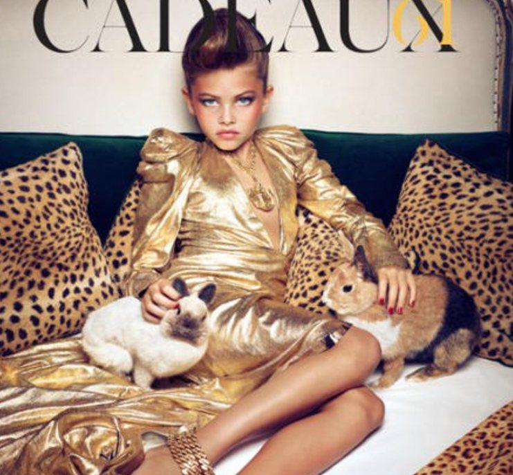法國女模布蘭朵(Thylane Blondeau)10歲拍時尚攝影惹議。圖/擷自...