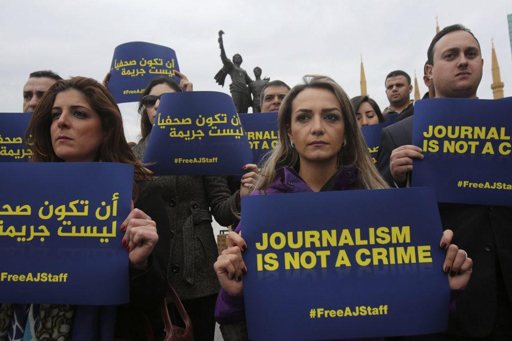 「埃及政府羅織罪名、迫害記者,才是真正的問題!」 圖/路透社