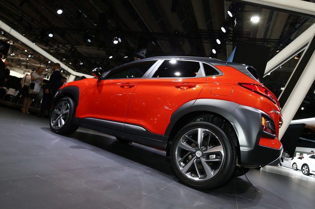Hyundai Kona來到了法蘭克福展演。 摘自Hyundai