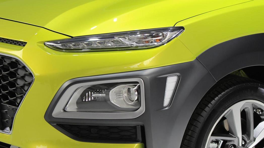Hyundai Kona採用分離式LED燈組設計。 摘自Hyundai