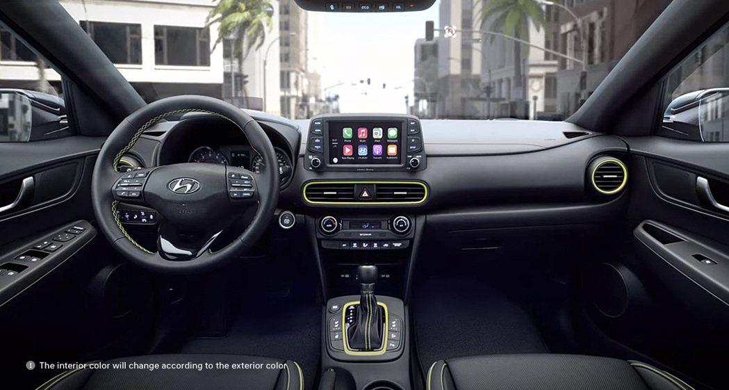 Hyundai Kona 車室。 摘自Hyundai