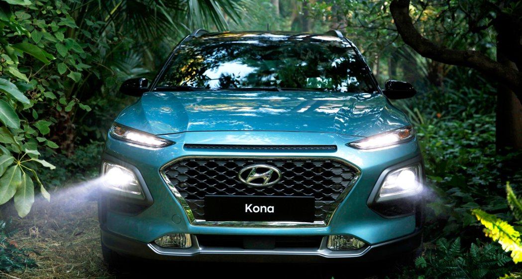 Hyundai Kona 霸氣車頭。 摘自Hyundai