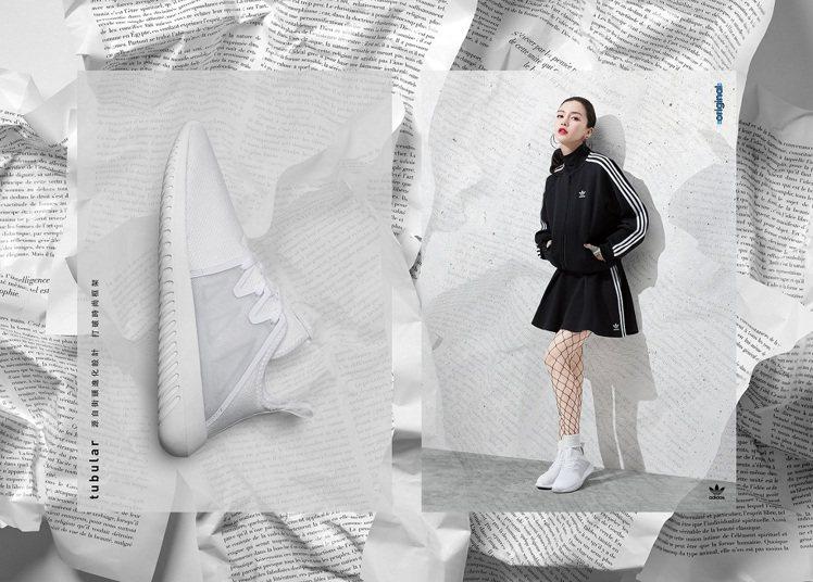 Angelababy示範Tubular VIRAL 2鞋款。圖/adidas O...