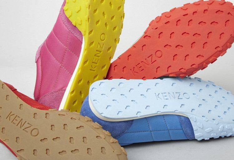 KENZO MOVE系列運動鞋創新膠底材質,完美融合當代潮流美學,鞋尖處的斑紋顆...