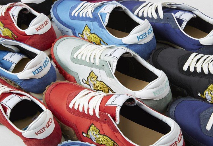 KENZO MOVE系列運動鞋男女鞋款各備有五色可供選擇。圖/KENZO提供