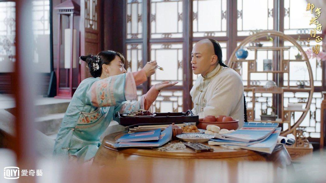 何潤東(右)與孫儷戲中演夫妻。圖/愛奇藝台灣站提供