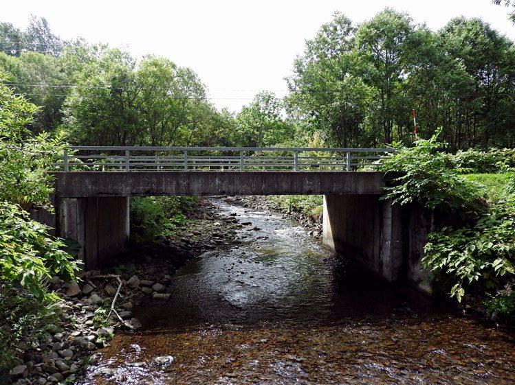 沿途會經過小橋、溪水。圖/記者魏妤庭攝影