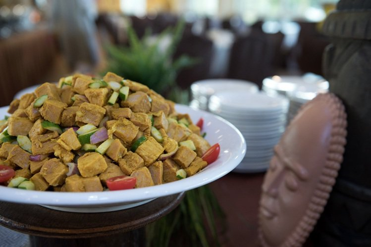 活動期間可品嘗道地非洲料理。圖/六福旅遊集團提供