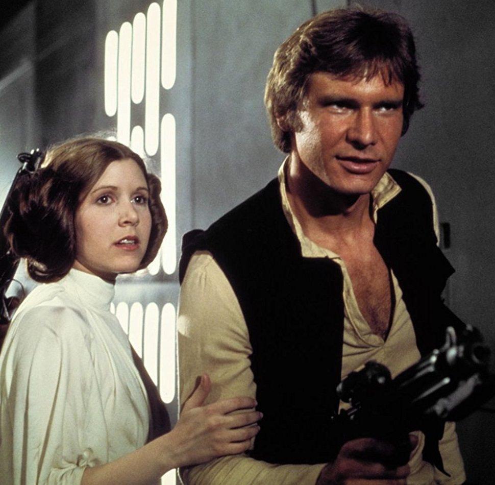 哈里遜福特與嘉莉費雪在拍「星際大戰」時假戲真作,談了一段禁忌戀曲。圖/摘自imd