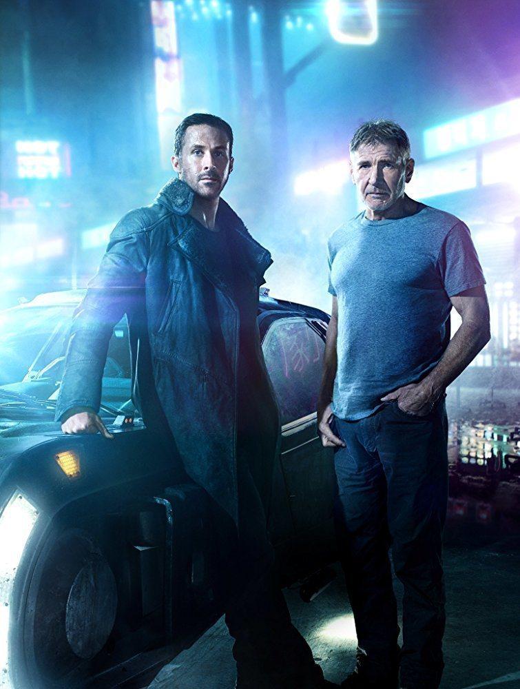 萊恩葛斯林(左)和哈里遜福特共同主演「銀翼殺手2049」。圖/摘自imdb