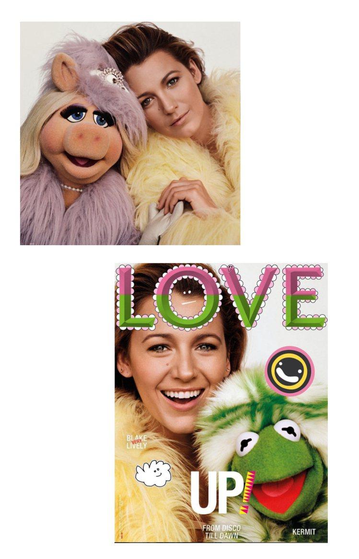 布蕾克萊佛莉最近和《大青蛙劇場》豬小姐、科米蛙拍畫報。圖/擷自instagram