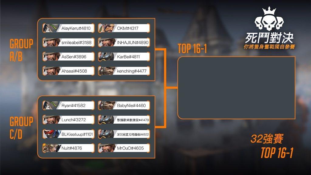 《鬥陣特攻》死鬥對決9月19日賽程表 (1)