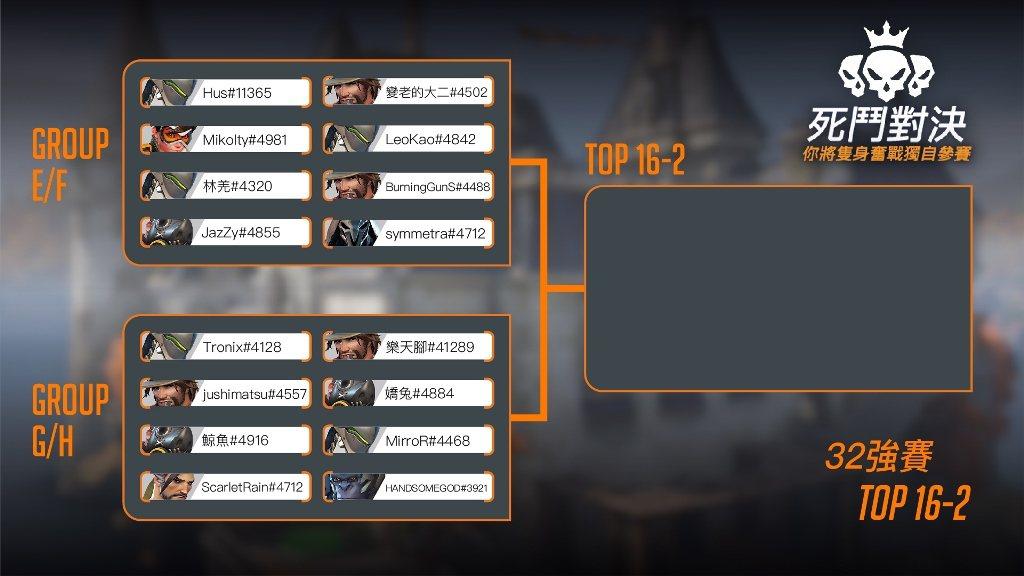 《鬥陣特攻》死鬥對決9月19日賽程表 (2)