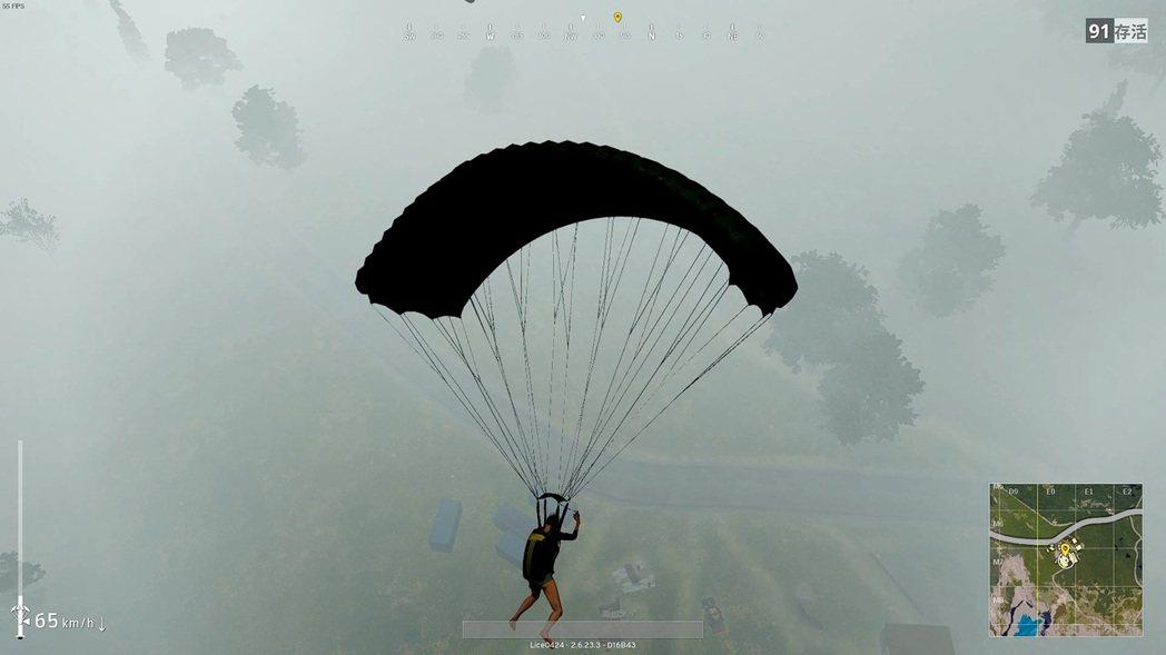 起霧的時候,跳傘會不容易看到其他人的降落方向