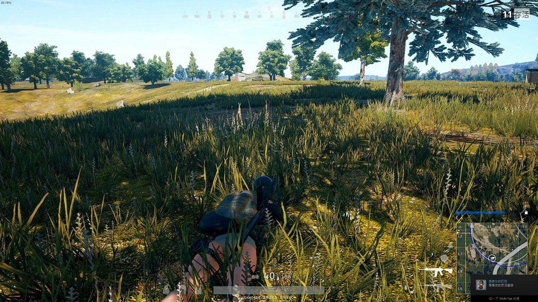 畫面變得更清楚,趴在草地上更容易被發現了
