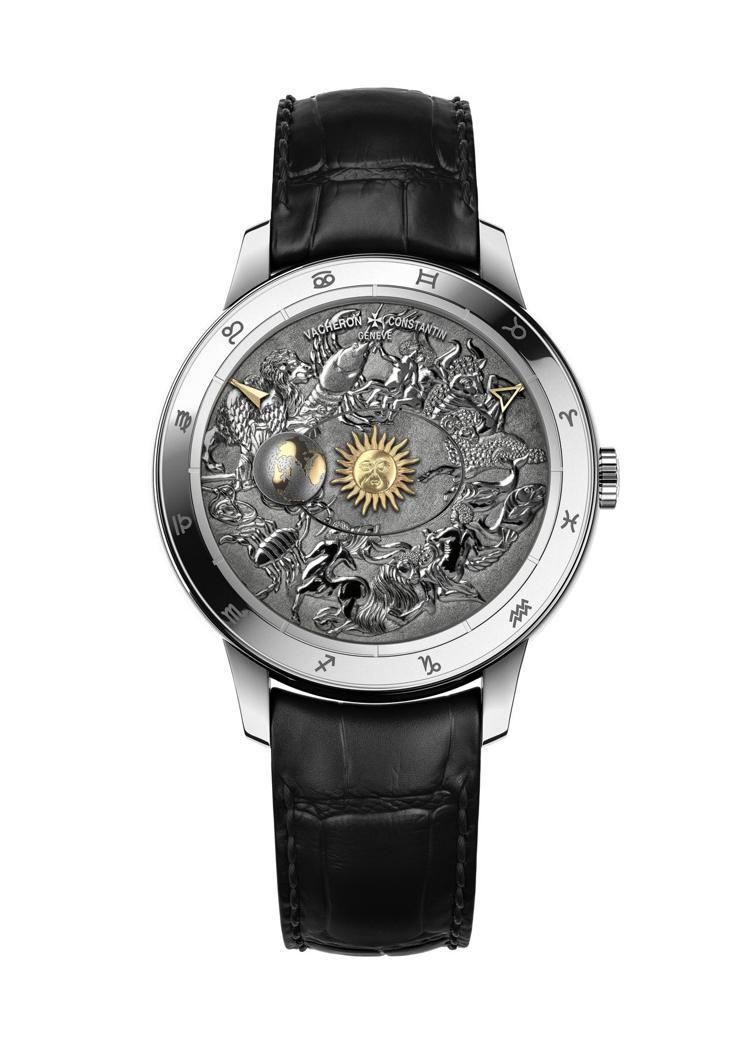 江詩丹頓藝術大師系列Métiers d'Art哥白尼天體球手工雕刻腕表,為18K...