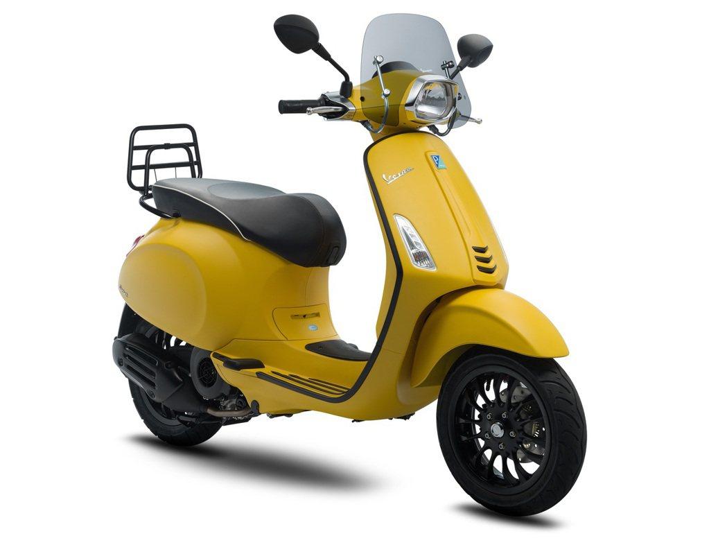 Sprint Sport 150 ABS金盞消光黃。圖/Vespa提供