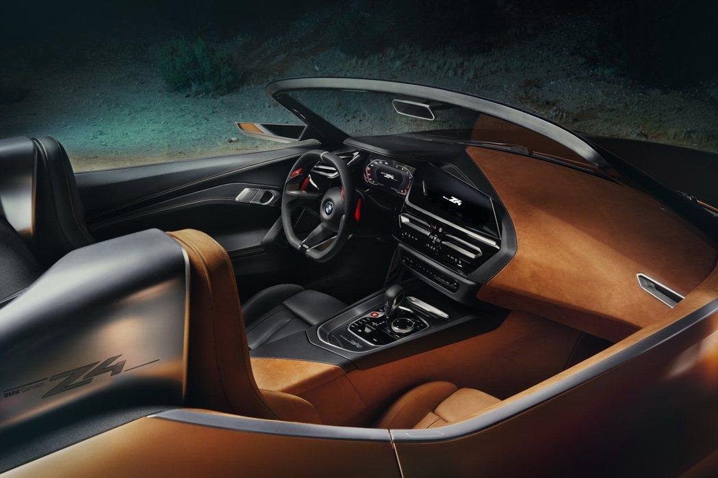 BMW Concept Z4的車室看來已接近量產版的水準。 摘自BMW