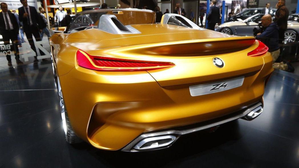 BMW Concept Z4 車尾。 摘自BMW