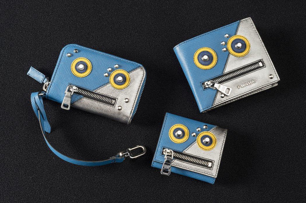 PRADA機器人零錢包(左至右)17,000元、11,500元、17,000元。...