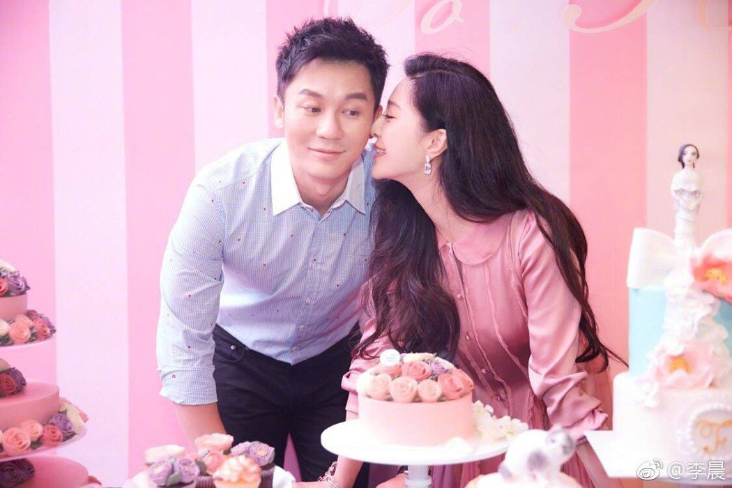 李晨宣告求婚范冰冰成功。圖/摘自微博