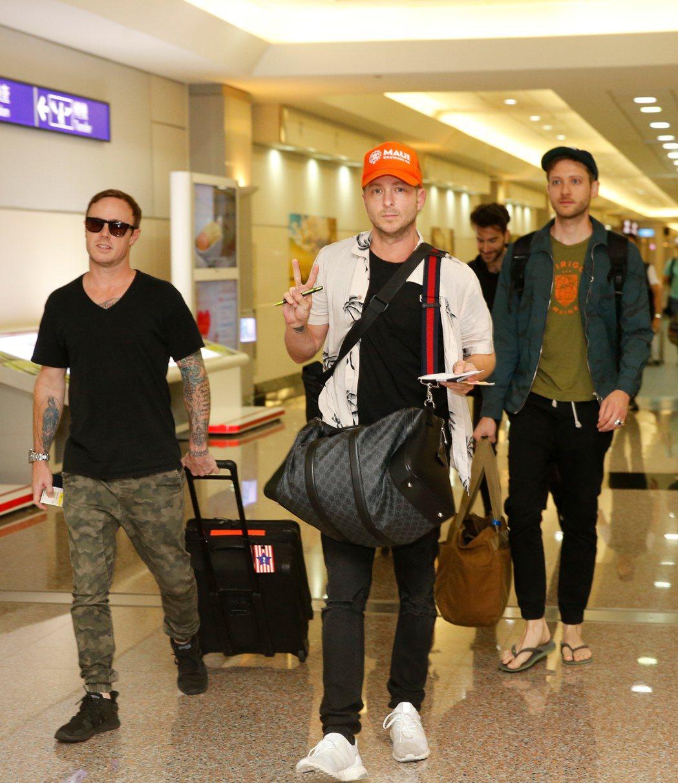 美國天團「共和世代」OneRepublic抵台。記者鄭超文/攝影