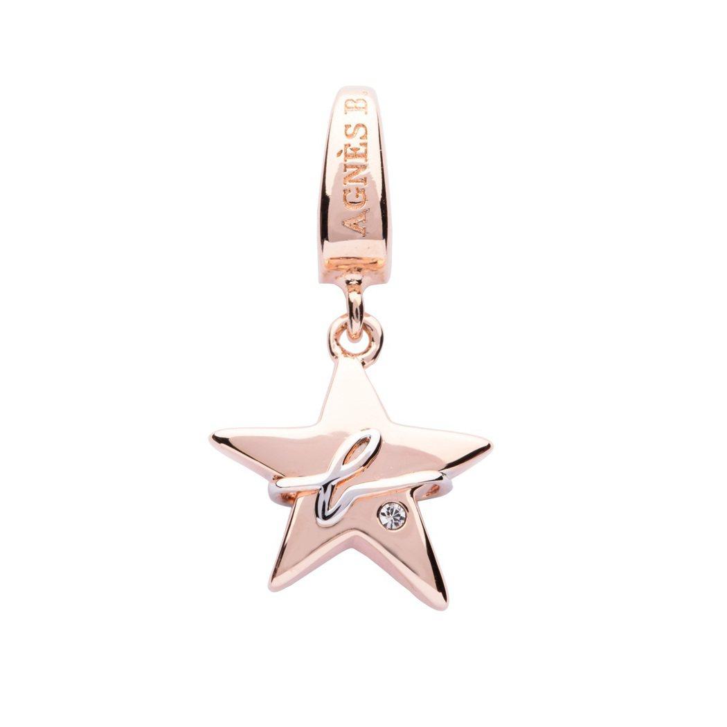 星星吊墜,1,580元。圖/agnès b. BIJOUX提供