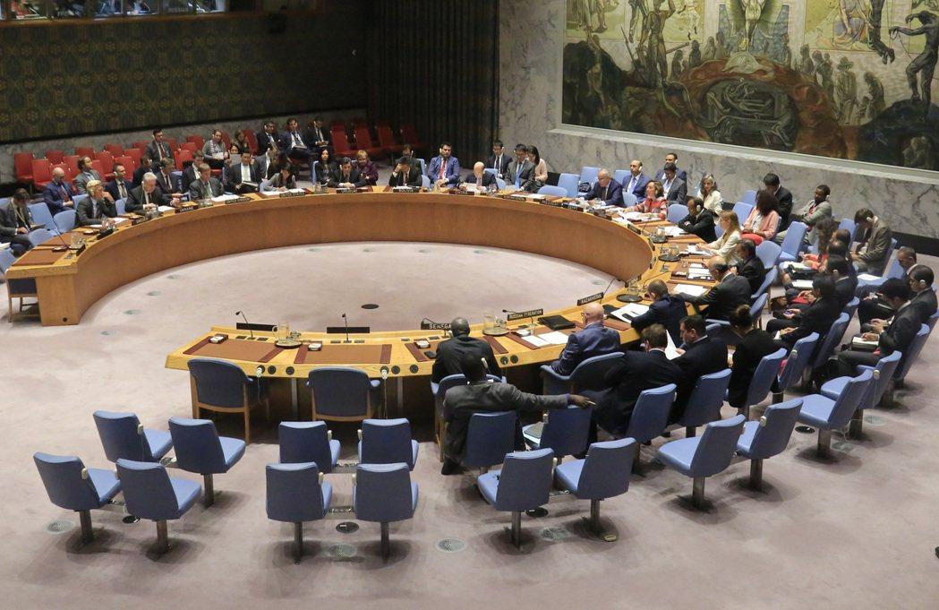 圖為聯合國安理會 美聯社