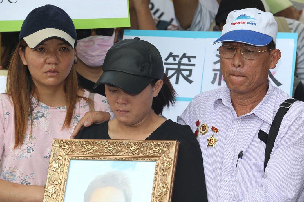 被警察開槍擊斃的移工父親和妹妹日前來台陳情,希望能得知事件真相。 聯合報系資料照...